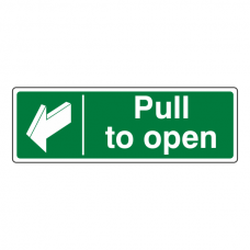 Pull To Open Sign (Landscape)