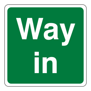 Way In Square Sign