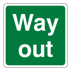 Way Out Square Sign