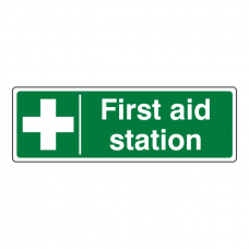 First Aid Stations Sign (Landscape)