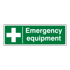 Emergency Equipment Sign (Landscape)
