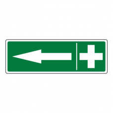 First Aid Arrow Left Sign (Landscape)