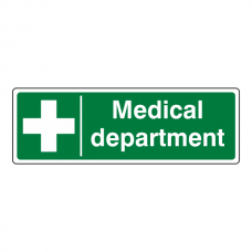 Medical Department Sign (Landscape)