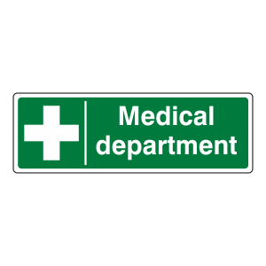 Medical Department Sign (Landscape)