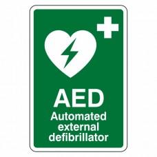 Automated External Defibrillator Sign (Portrait)