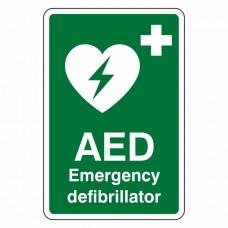 Emergency Defibrillator Sign (Portrait)