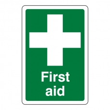 First Aid Sign (Portrait)