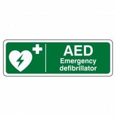 Emergency Defibrillator Sign (Landscape)