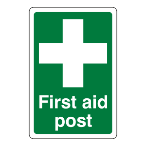 First Aid Post Sign (Portrait)