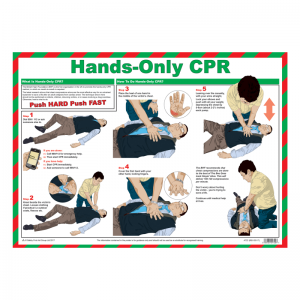 Hands-Only CPR Safety Poster