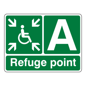Refuge Point With Letter Sign