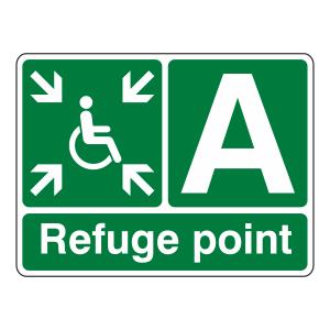 Refuge Point With Letter Sign