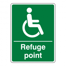 Refuge Point Sign (Portrait)