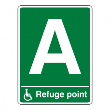 Refuge Point With Letter Sign (Portrait)