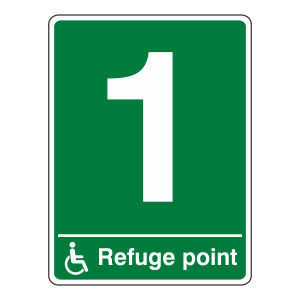 Refuge Point With Number Sign (Portrait)