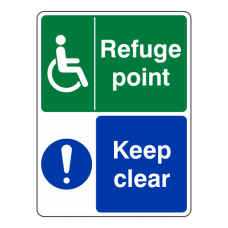 Refuge Point Keep Clear Sign (Portrait)