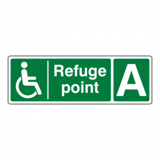 Refuge Point With Letter Sign (Landscape)