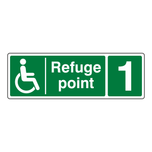 Refuge Point With Number Sign (Landscape)