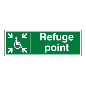 Refuge Point With Wheelchair Sign (Landscape)