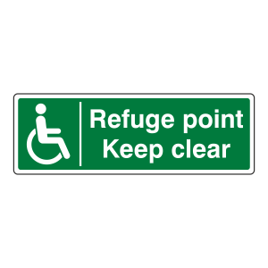 Refuge Point Keep Clear Sign (Landscape)