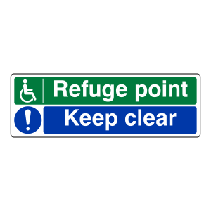 Refuge Point / Keep Clear Sign (Landscape)