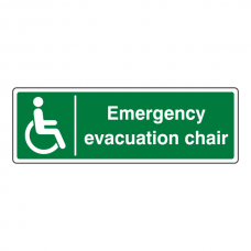 Emergency Evacuation Chair Sign (Landscape)