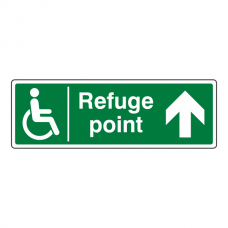 Refuge Point Arrow Up Sign