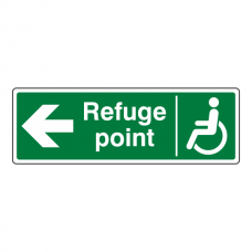 Refuge Point Arrow Left Sign