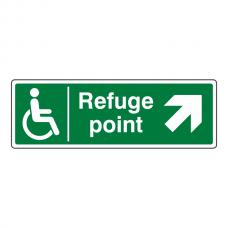 Refuge Point Arrow Up Right Sign