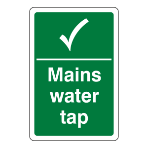 Mains Water Tap Sign