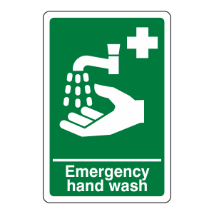 Emergency Hand Wash Sign