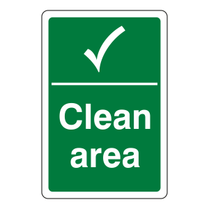 Clean Area Sign