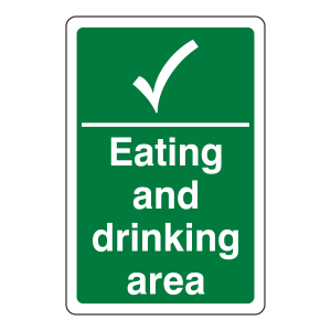Eating and Drinking Area Sign
