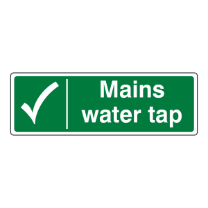 Mains Water Tap Sign (Landscape)