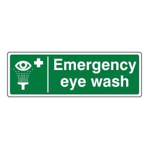 Emergency Eye Wash Sign (Landscape)
