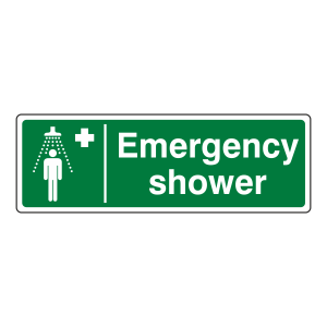 Emergency Shower Sign (Landscape)