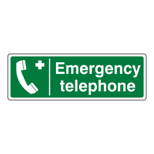 Emergency Telephone Sign (Landscape)