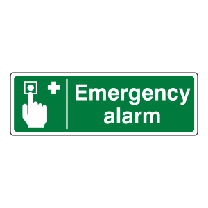 Emergency Alarm Sign (Landscape)