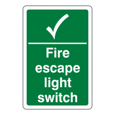 Fire Escape Light Switch Sign