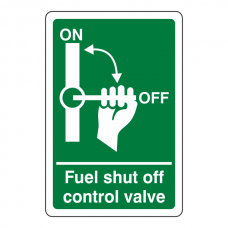 Fuel Shut Off Control Valve Sign
