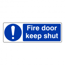 Fire Door Keep Shut Sign (Landscape)