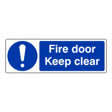 Fire Door Keep Clear Sign (Landscape)