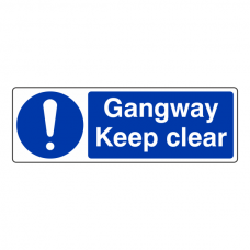 Gangway Keep Clear Sign (Landscape)