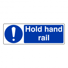 Hold Hand Rail Sign (Landscape)