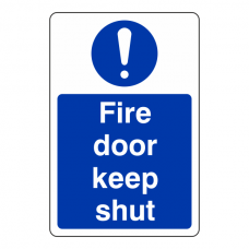 Fire Door Keep Shut Sign (Portrait)