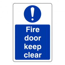 Fire Door Keep Clear Sign (Portrait)