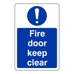 Fire Door Keep Clear Sign (Portrait)