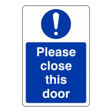 Please Close This Door Sign (Portrait)