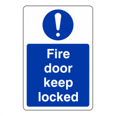 Fire Door Keep Locked Sign (Portrait)