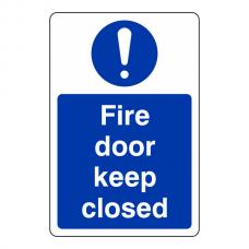 Fire Door Keep Closed Sign (Portrait)